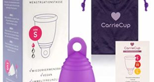 carriecup menstruationstasse klein made in germany bpa frei alternative zu tampons und binden silikonfrei inkl beutel lila 310x165 - CarrieCup Menstruationstasse klein, Made in Germany - BPA-frei, Alternative zu Tampons und Binden, silikonfrei - inkl. Beutel Lila