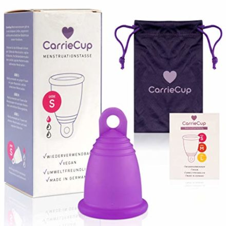 carriecup menstruationstasse klein made in germany bpa frei alternative zu tampons und binden silikonfrei inkl beutel lila 440x440 - Menstruation