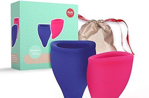 Fun Factory FUN CUP Explore Kit - Ergonomische Menstruationstassen - Designt für optimalen Sitz - Made in Germany (2 Cups - Groß/klein)