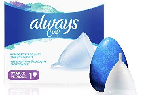 Always Menstruationstasse Menstrual Cup fuer starke Periode mit einer Gynaekologin 500x330 - Always Menstruationstasse, Menstrual Cup für starke Periode, mit einer Gynäkologin entwickelt, 1 Tasse mit Etui